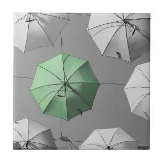 Green Umbrella Photo Tile