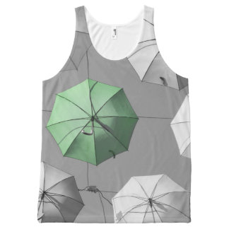 Green Umbrella Printed Uni-Sex Tank