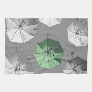 Green Umbrella towell Hand Towels