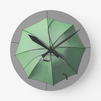 Green Umbrella Wall Clock