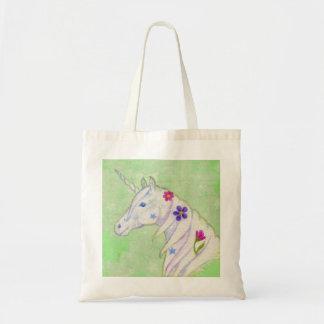 Green Unicorn tote bag