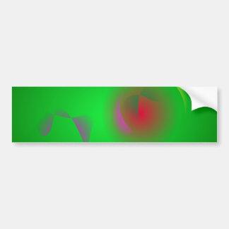Green Universe and a Red sun Bumper Sticker