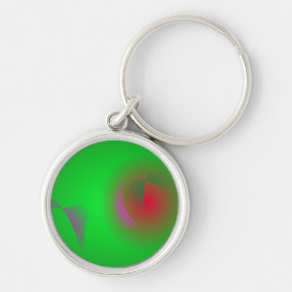 Green Universe and a Red sun Keychain