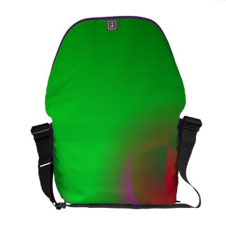 Green Universe and a Red sun Courier Bags