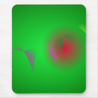 Green Universe and a Red sun Mouse Pad