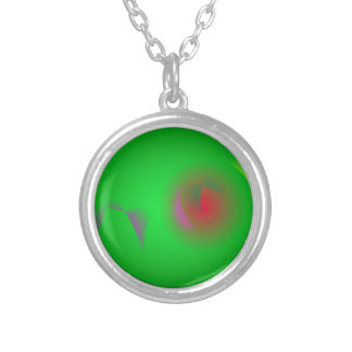 Green Universe and a Red sun Necklaces