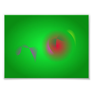 Green Universe and a Red sun Photographic Print
