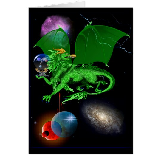 Green Universe Dragon Card