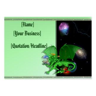 Green Universe Dragon profilecard_chubby_horizo... Large Business Card