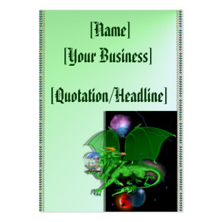 Green Universe Dragon profilecard_chubby_vertic... Large Business Card