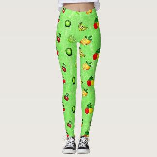 Green Veggies and Fruits Leggings