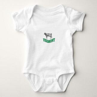 green vermont baby bodysuit