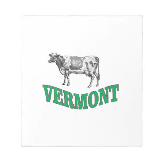 green vermont notepad