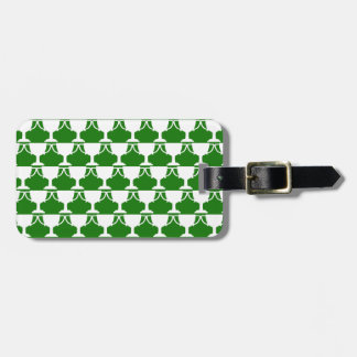 Green Victorian Lace Luggage Tag