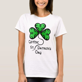 Green Victorian shamrock T-Shirt
