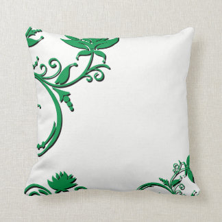 Green Vines Borders Throw Pillow
