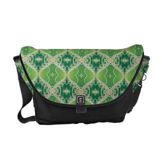 Green Vines Fractal Messenger Bag