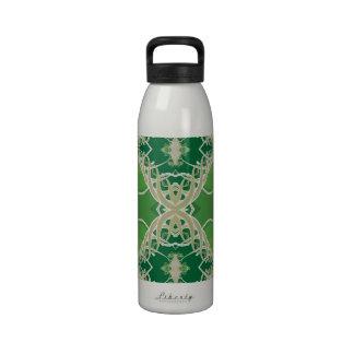 Green Vines Fractal Drinking Bottles