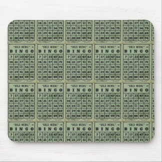 green vintage bingo cards mouse pads
