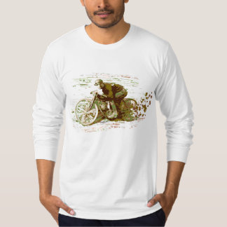 Green Vintage Board Track Motorcycle T-Shirt