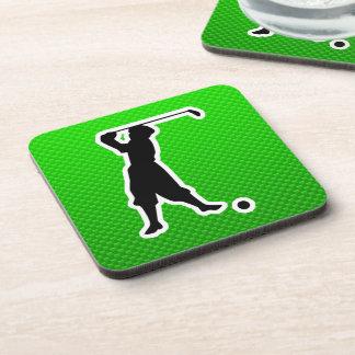 Green Vintage Golfer Coasters