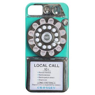 green vintage payphone iphone case