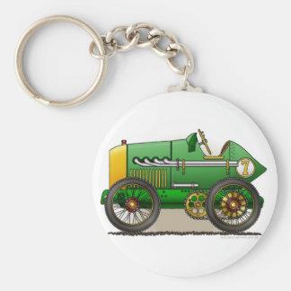 Green Vintage Race Car Key Chains
