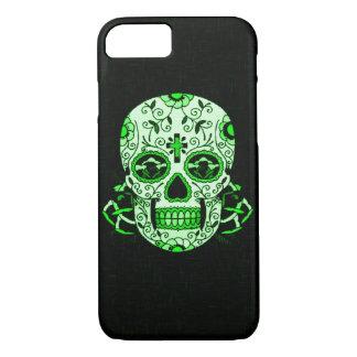 Green Vintage Skully Skull Dead Head Party Skull iPhone 7 Case