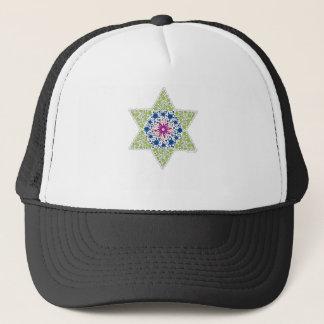 Green Vintage Star of David - Magen David Trucker Hat