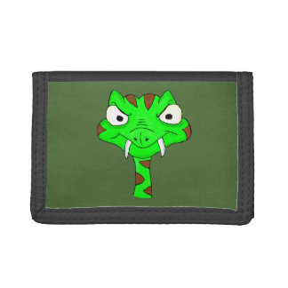 Green viper trifold wallets