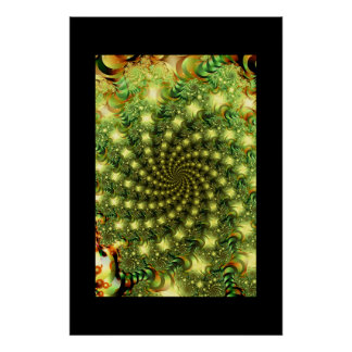 Green Vortex Poster