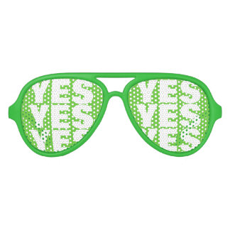 Green Vote YES party shades | Funny voting promo