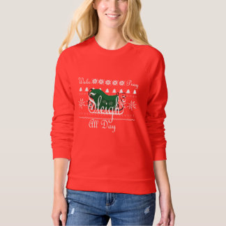 Green Wake. Pray. Sleigh. Winter Sweatshirt