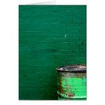 Green Wall & Barrel Card