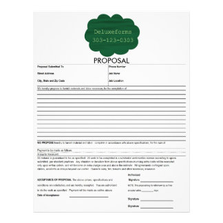Green Water Cloud Personalized Letterhead