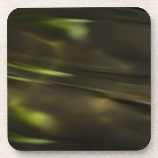 Green Water Ripples Drink Coaster