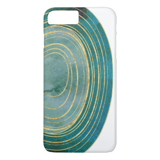 Green Watercolor Agate with Gold Accent | Case-Mate iPhone Case