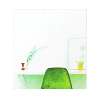 Green Watercolor Artist Chair From The Desk Of Notepad