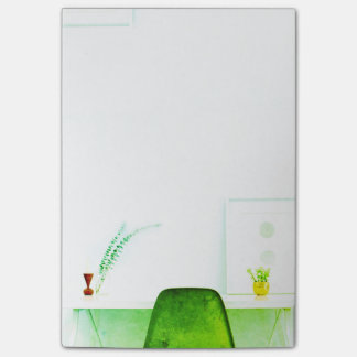 Green Watercolor Artist Chair From The Desk Of Post-it Notes