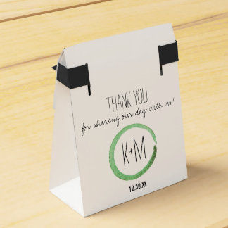 Green Watercolor Favor Boxes