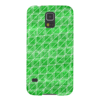 Green Watercolor Geometric Pattern Cases For Galaxy S5