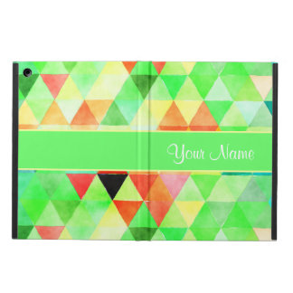 Green Watercolor Geometric Triangles iPad Air Case