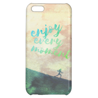 Green Watercolor Jogging Running Typography iPhone 5C Cover