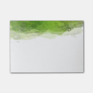 Green Watercolor Post-it Notes