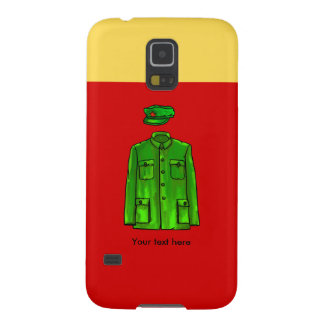 Green Watercolour Chairman Mao Coat and Hat Case For Galaxy S5