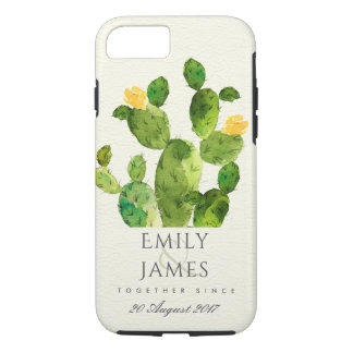 GREEN WATERCOLOUR DESERT CACTUS SAVE THE DATE GIFT iPhone 8/7 CASE