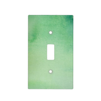 Green Watercolour Marble Light Switch Cover