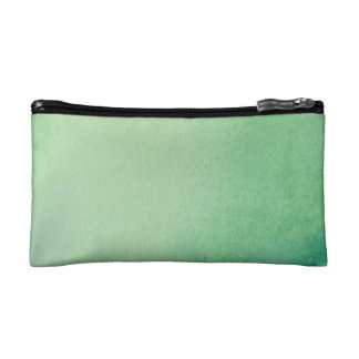 Green Watercolour Marble Makeup Bag