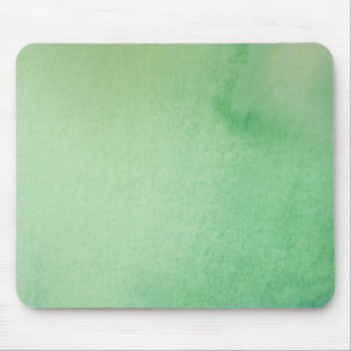 Green Watercolour Marble Mouse Pad