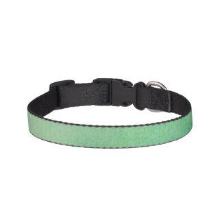 Green Watercolour Marble Pet Collar